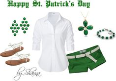 """""""St. Patty's Day"""" by shauna-rogers ❤ liked on Polyvore"""