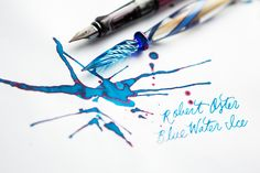 Cool down this summer with a brand new fountain pen ink! Check out Robert Oster Blue Water Ice, an icey blue with hints of red sheen. This is one unique ink! Pin for Later.