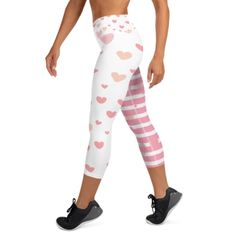 This Cutesy Valenstripes High Waist Capri is an ideal outfit in achieving your fitness goal this year. The design Vastitch creates is specially made to complement any body types. Show off that bum, be a head-turner, and workout in confidence.  The High Waist Capri design makes these leggings super comfortable and can be used both in the gym, when running or in the yoga studio. The unique pattern is made to make you feel great, unique and to complement any body type. You Fitness, Fitness Goals, Feeling Great, How Are You Feeling, Body Types, Soft Fabrics, Capri, Stripes, High Waist