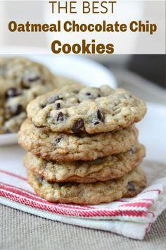 Oat Cookies, Cookies Et Biscuits, Cookies With Oats, Recipe For Cookies, Cookies Snickerdoodle, Quick Cookies, Healthy Cookies, Köstliche Desserts, Delicious Desserts