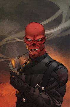 Red Skull is Red Skull, a villain from the Captain America comics by Marvel. Red Skull Marvel, Marvel Dc, Marvel Villains, Marvel Heroes, Marvel Comic Character, Comic Book Characters, Marvel Characters, Comic Books Art, Comic Art