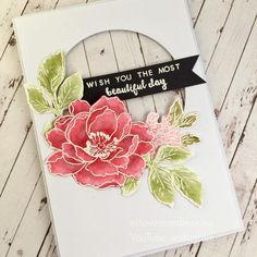 No photo description available. Altenew Cards, Stampin Up Cards, Altenew Beautiful Day Cards, Poppy Cards, Scrapbooking, Mothers Day Cards, Card Making Inspiration, Card Sketches, Watercolor Cards
