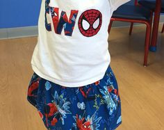 Spiderman Birthday Outfit short or long sleeve, Spiderman skirt, spiderman birthday, spiderman girl, spiderman, spiderman birthday shirt
