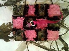 Have one to sell? Sell it yourself    REALTREE CAMO/PINK baby security blankie-pacifier holder-rag quilt-camo-girl.