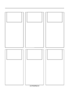 Filmmakers, animators, Web developers and others use storyboard templates to sketch out scenes. This printable, letter-sized storyboard paper has a 3x2 grid of 3:2 ratio (35mm photo) screens. Free to download and print