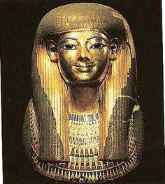 Mascara de la momia de Tuya...dinastia XVIII