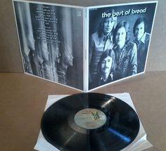 """Bread """"The Best of Bread"""" - 33 RPM LP 12"""" Record - Elektra EKS-75056"""