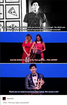 He totally deserves that award and he deserves so much more. He deserves every kind of award he can qualify for am i right or am i right