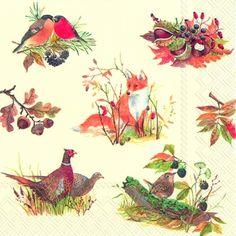 napkins 33 x 33 cm,  Autumn,  lunchnapkins