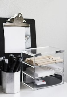 Black / White / Acetate Office Decor
