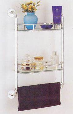 Bath Shelf with Towel Bar by Loroman Company Inc., Towel Racks