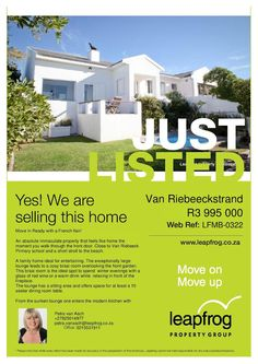 Looking to buy or sell in Melkbosstrand or Atlantic beach estate.....contact…