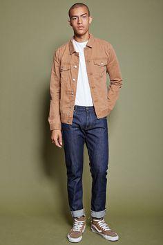 Veste en jean boutonnée