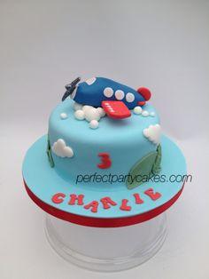 Cute aeroplane cake