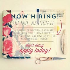 Do you love fashion? Have an eye for detail? We are looking to add to our fun, fashion savvy team! OPEN INTERVIEW on THURSDAY SEPT 1st @ 12-4! Come with a resume and your amazing personality! Hiring full time and part time *Some day time availability in September is a MUST! Store located at 700 Strasburg Rd 😊 | www.platosclosetkitchener.com