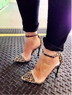 Unleash your wild side with these Leopard Heels.