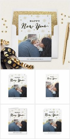Light Up the Sky Holiday Christmas Collection Light up the Sky is a modern New Year's collection that features a chic black and gold color scheme with hand drawn stars and fireworks.