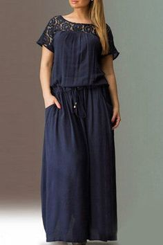 loose fitting drawstring waist maxi