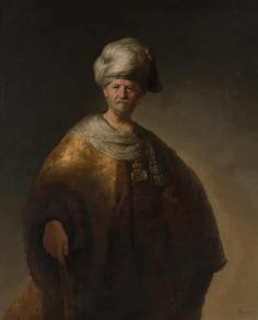 """KDS Photo, New York City Metropolitan Museum, oil painting by Rembrandt van Rijn, """"Man in Oriental Costume (The Noble Slav)"""", 1632 Amsterdam, Hieronymus Bosch, Singer Sargent, Classic Image, Equine Art, Canvas Prints, Art Prints, Oil On Canvas, Poster Size Prints"""