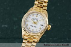 Rolex Lady Datejust 18k Gold Automatik Kal. 3135 Ref. 69178    153429