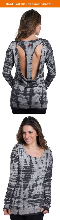 Hard Tail Slouch Back Sweatshirt, All Over Lizard #1, Large. The Hard Tail Slouch Back Sweatshirt has all-over print with a open T-back for style. Product Features: Scoop neck Long sleeve Banded bottom All-over print Hard Tail tab on back Open t-back for style 69% cotton, 21% polyester, 10% rayon.