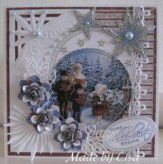 Voorbeeldkaart - Kerstkaart - Categorie: Handembossing - Hobbyjournaal uw hobby website