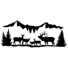 High Country Harem Elk Wall Decal