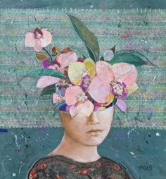 "Saatchi Art Artist Minas Halaj; Collage, """" Floral Mind #8 "" Private Collection,  Beverly Hills !"" #art"
