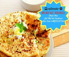 Join the breakfast bonanza and avail upto Rs. 100 cahsback on your orders with Railrestro. Order it now pay via CC Avenue and get cashback on your breakfast orders. Call 8102888111 for more info.