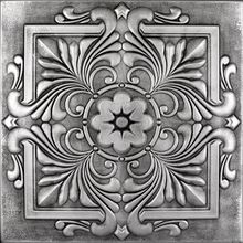 """Victorian - Styrofoam Ceiling Tile - 20""""x20"""" - #R 14  use on Styrofoam panels OR plywood.  Make a backdrop with it."""