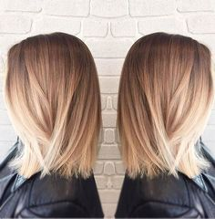 Beautiful Bayalage Blonde Medium Hairstyles fro Women