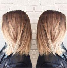 Beautiful Bayalage Blonde Medium Hairstyles fro Women