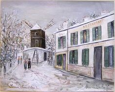 Moulin in Sannois Under Snow - Maurice Utrillo