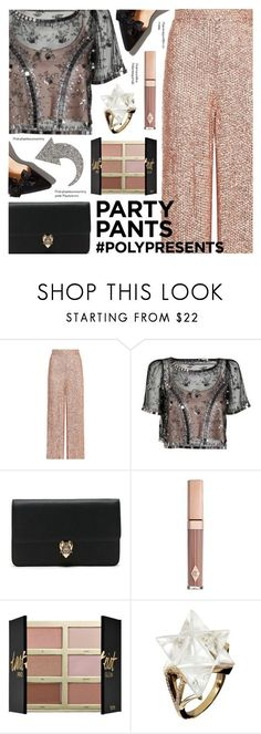 """""""#PolyPresents: Fancy Pants"""" by deepwinter ❤ liked on Polyvore featuring Temperley London, Alexander McQueen, tarte, Tessa Packard, Sonia Rykiel, contestentry and polyPresents"""