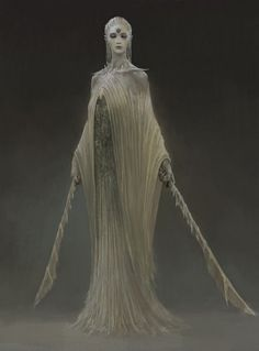 Ghostly warrior - dual sword wielder Female shrouded spooky figure RPG character inspiration