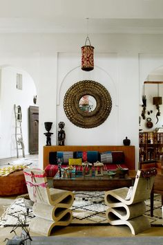 Maryam Montague's Morocco Meets Indian Home - Living Room Design (houseandgarden.co.uk)