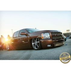 """Personal favorite.  #Chevy #Silverado #Billets #Trucks #GoldLogo #Photography"""