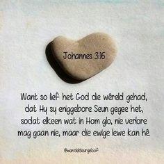 John 3, Afrikaans, Bible Quotes, Verses, Lisa, Scriptures, Bible Scripture Quotes, Lyrics, Poems