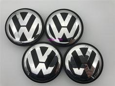 4 PCS 56mm Wheel Center Hub Caps Cover For Volkswagen VW GOLF JETTA POLO #Volkswagen hubcaps|VW center cap set