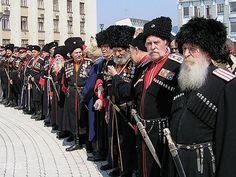 Kubanskie cossacks ( on river Kuban ).