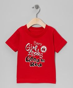 Take a look at this Red 'Every Girl Looks Good in Red' Tee - Toddler & Girls by International Harvester on #zulily today!