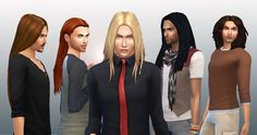 Male Long Hair Pack at My Stuff via Sims 4 Updates