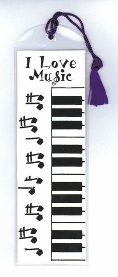 """I Love Music"" keyboard bookmark <3 Cool for Rock-Books<3"