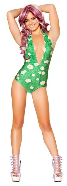 Daisies on Grass Light Up Romper http://www.envycorner.com/daisies-on-grass-light-up-romper.html JV-FF465-GRASS New and trendy daisies on grass light up halter romper by J Valentine to show your rave swag at your next EDM festival. Available in small/medium and medium/large. Made in USA and battery included. Made of nylon and spandex. Includes romper only. #ravewear #dancewear #edcoutfits #edccostumes #envycorner