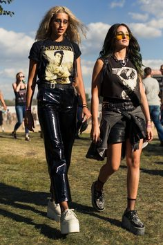 Street style at Riot Fest Chicago 2016