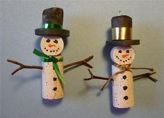 Wine Bottle Cork Christmas Tree OrnamentsSet by Shadetreecarvings
