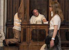 Confession at Basilica di S. Maria Maggiore, Rome, Italy, August 2015 © Dima Zverev