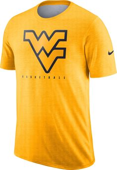 5f8035936 Nike Men s West Virginia Mountaineers Gold Player Dri-FIT Basketball T-Shirt