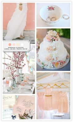 Coral, blush, Peach and white... My Wedding Color Palette!!