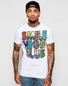 "T-shirt by Friend or Faux Soft-touch jersey Crew neck Slogan print Regular fit - true to size Machine wash 100% Cotton Our model wears a size Medium and is 185.5cm/6'1"" tall"